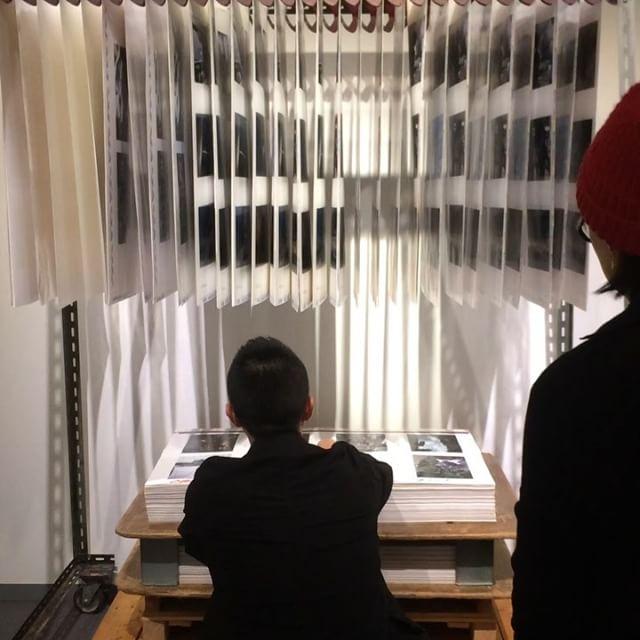 """門田紘佳 MONDEN Hiroka さんの写真展「6""""85」にて、光村印刷さんの印刷の裏話。こうゆうお話は美大生の頃でも聴けなかったなぁ。。。なんだか新鮮です。"""