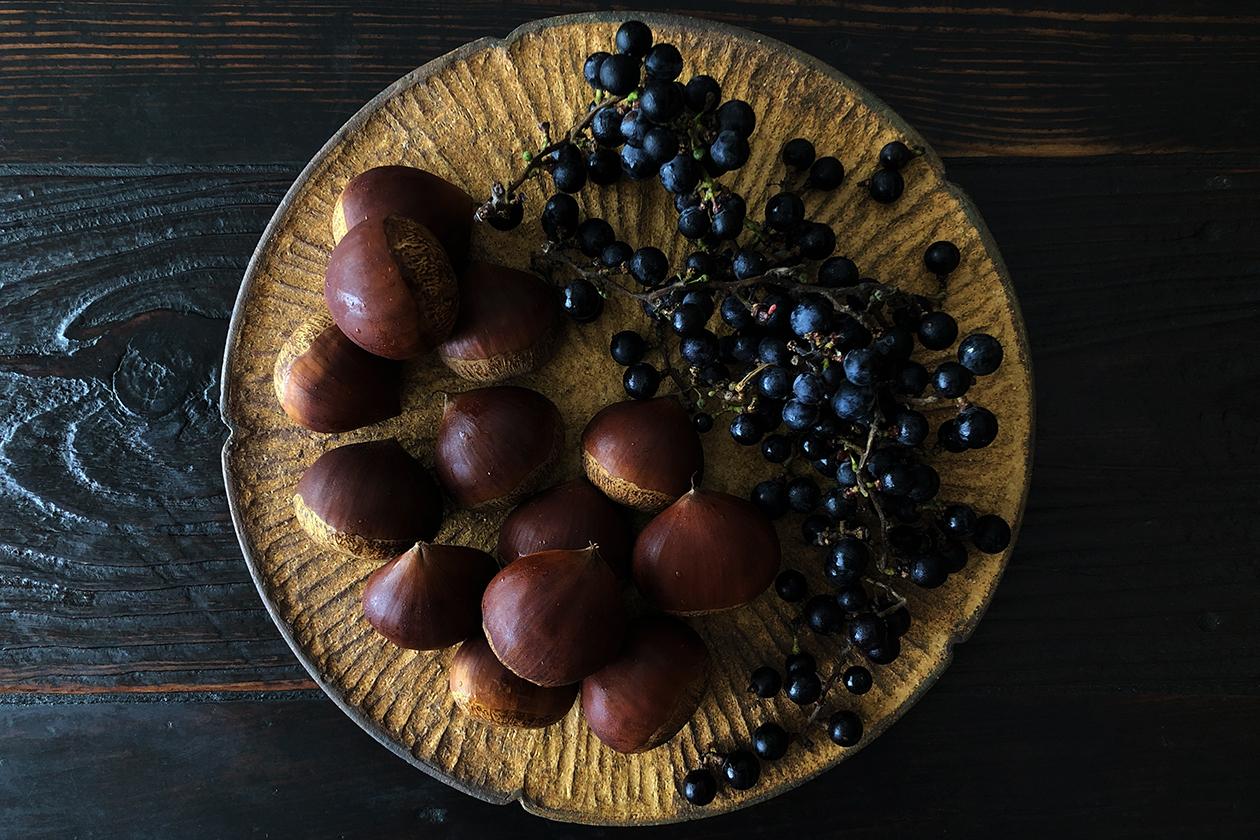 栗と山葡萄